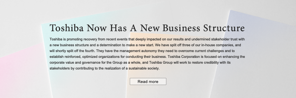 Toshiba Now Has A New Business Structure